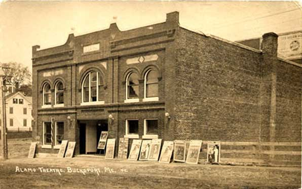 The Alamo Theatre. Image via Town of Bucksport, Maine.
