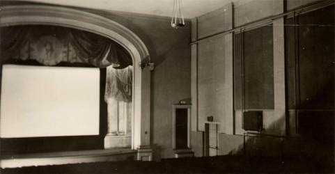 The interior of the Alamo Theatre in1930. Image via Northeast Historic Film.