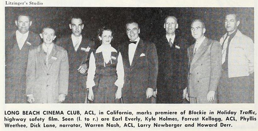 The Long Beach Cinema Club pictured in <em>Movie Makers</em>, Oct. 1951, 336.