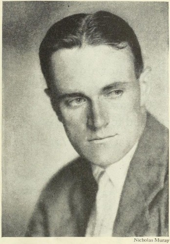 Photo taken by Nicolas Muray of 35 year old Russell T Ervin, Jr. in Photoplay, Sept. 1928, 69.