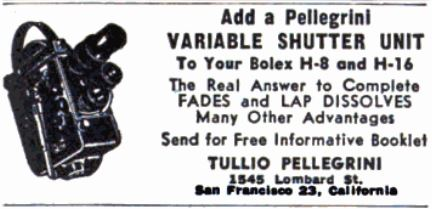 Pellegrini's ad in Popular Photography, April 1956, 144.